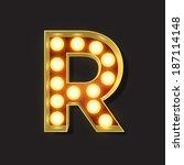 marquee light letter   vector   ... | Shutterstock .eps vector #187114148