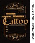 tattoo studio vintage poster... | Shutterstock . vector #1871154982