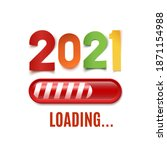 new year 2021 background with... | Shutterstock . vector #1871154988