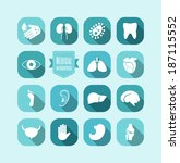 medical infographic template. | Shutterstock .eps vector #187115552