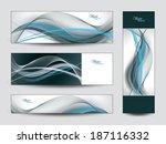 banners. set of vector... | Shutterstock .eps vector #187116332