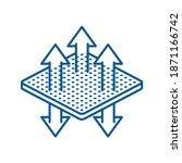 breathable textile pictogram  ... | Shutterstock .eps vector #1871166742