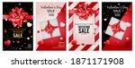 valentine's day love banner set ... | Shutterstock .eps vector #1871171908