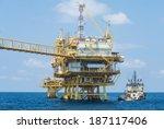 oil platform on the sea   Shutterstock . vector #187117406
