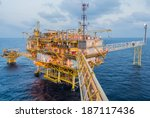 oil platform on the sea | Shutterstock . vector #187117436