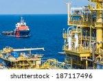 oil platform on the sea   Shutterstock . vector #187117496