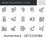 set of vector line icons... | Shutterstock .eps vector #1871220388