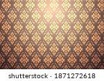 vintage ornament. vector... | Shutterstock .eps vector #1871272618