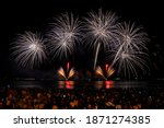colorful fireworks in pattaya... | Shutterstock . vector #1871274385
