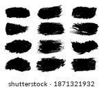 big set of hand drawn brush... | Shutterstock .eps vector #1871321932