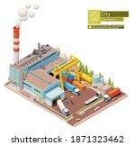 vector isometric factory...   Shutterstock .eps vector #1871323462