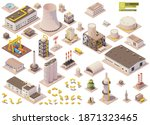 vector isometric factory... | Shutterstock .eps vector #1871323465