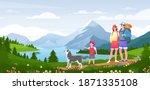 family outdoor adventure... | Shutterstock .eps vector #1871335108