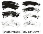 flat fan brush thin curved... | Shutterstock .eps vector #1871342095