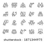 business people icons set.... | Shutterstock .eps vector #1871344975