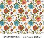 summer seamless vector pattern ...   Shutterstock .eps vector #1871371552
