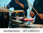 The Percussion Section At A...