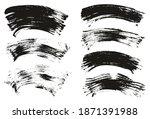 flat fan brush thin curved... | Shutterstock .eps vector #1871391988