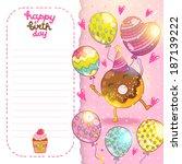 happy birthday card background... | Shutterstock .eps vector #187139222