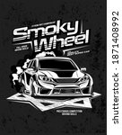 smoky wheel  illustration of a...   Shutterstock .eps vector #1871408992