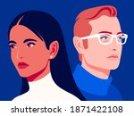 woman and man. family... | Shutterstock .eps vector #1871422108