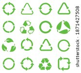 biodegradable  compostable ... | Shutterstock .eps vector #1871427508