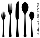 the contours of the cutlery....   Shutterstock .eps vector #1871427748