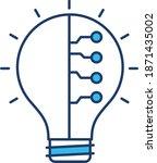 electric lightbulb.  vector...   Shutterstock .eps vector #1871435002