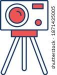 surveyor' camera  vector icon    Shutterstock .eps vector #1871435005