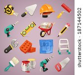 construction icons set1.1 in... | Shutterstock .eps vector #187144502