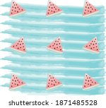 watercolor illustration with... | Shutterstock .eps vector #1871485528