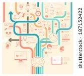 flat vintage infographics... | Shutterstock .eps vector #187152422