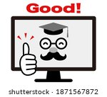 dr. pc giving a good sign. ... | Shutterstock .eps vector #1871567872