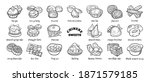 doodle set of chinese sweets....   Shutterstock .eps vector #1871579185