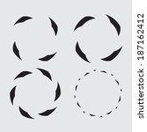 circular icon symbol | Shutterstock .eps vector #187162412