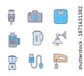 home electronics appliances...   Shutterstock .eps vector #1871631382