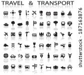 travel and transport | Shutterstock .eps vector #187163876