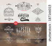 hipster style vintage elements... | Shutterstock .eps vector #187166015