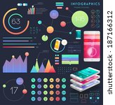set of user interface elements. ... | Shutterstock .eps vector #187166312