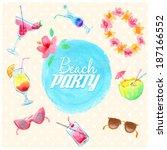 Watercolor Beach Party Flyer....