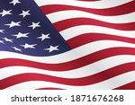 waving american flag vector... | Shutterstock .eps vector #1871676268