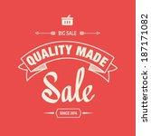 sale illustration and... | Shutterstock .eps vector #187171082