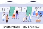 doctors and patients at clinic. ... | Shutterstock .eps vector #1871736262