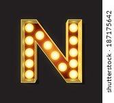 marquee light letter   vector   ... | Shutterstock .eps vector #187175642