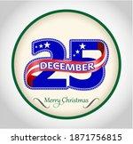 25 December Colored Number...