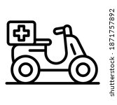 drugs delivery bike icon....   Shutterstock .eps vector #1871757892