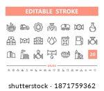 fuel 20 line icons. vector...   Shutterstock .eps vector #1871759362