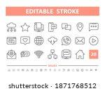 internet communication 20 line...   Shutterstock .eps vector #1871768512