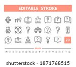 question 20 line icons. vector...   Shutterstock .eps vector #1871768515