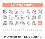 financial planning 20 line...   Shutterstock .eps vector #1871768548